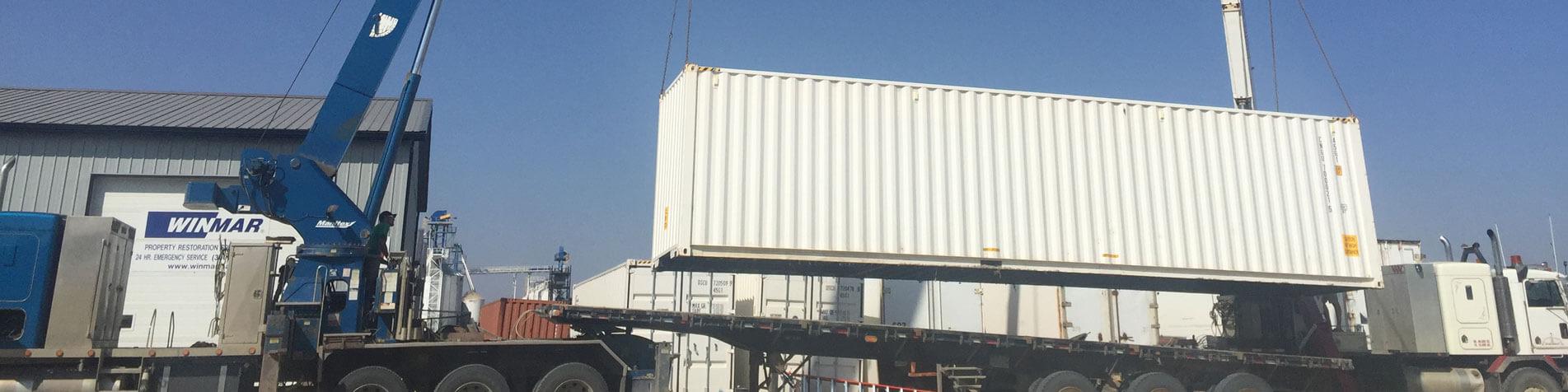 Crane lifting cargo